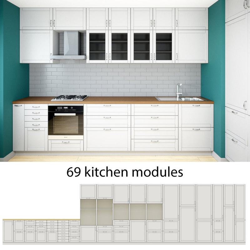modern kitchen 3D