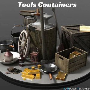 3D tools containers model