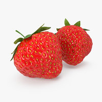 strawberry realistic model