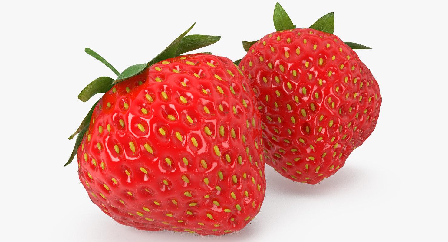 strawberry realistic model