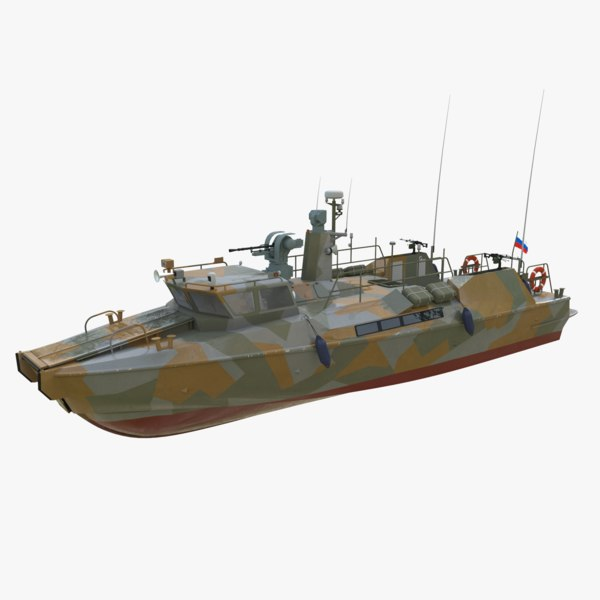 3D model raptor speed boat