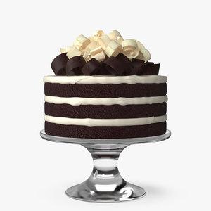 cake irish whiskey 3D model