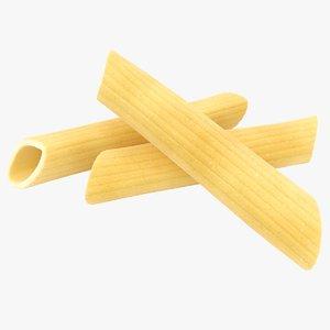 3D model realistic penne pasta