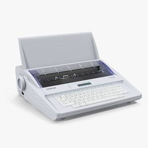 electronic display typewriter brother 3D model