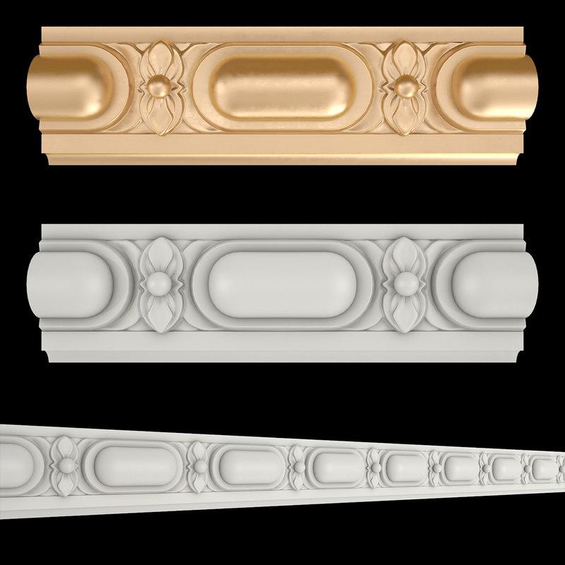 frieze gold 3D model