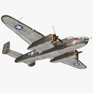 b-25 mitchell medium bomber 3D model