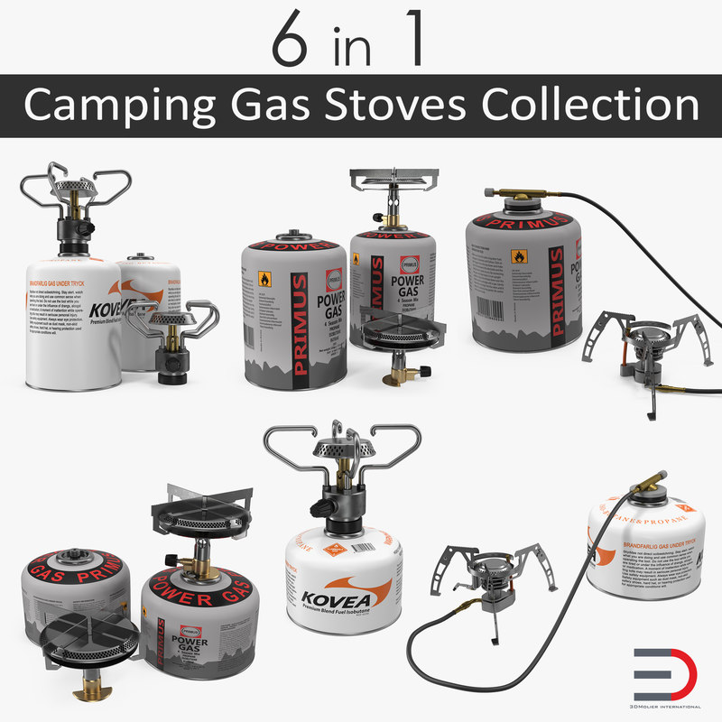 3D camping gas stoves