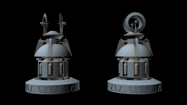 3D sci-fi radar 8 model