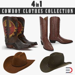 3D cowboy clothes