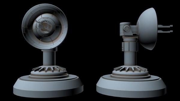 sci-fi radar 6 3D model