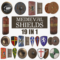 Medieval Shields 3D Models Collection