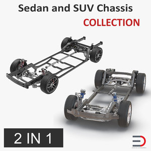 sedan suv chassis 3D model