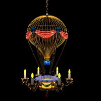 3D chinese hot air balloon