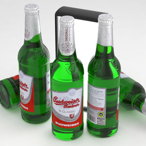 3D beer budvar budweiser