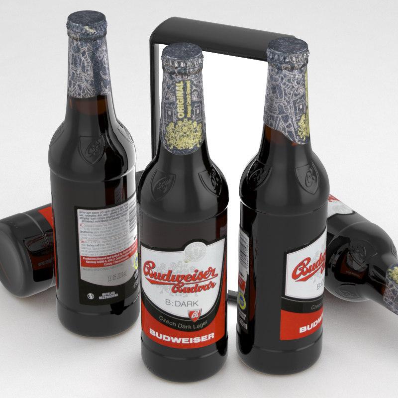 beer budvar budweiser 3D model