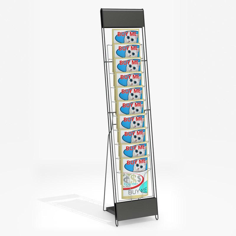 3D model literature rack