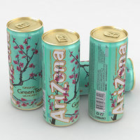 3D beverage tea green model