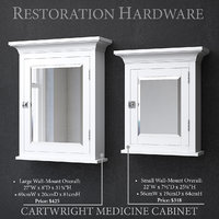 restoration cartwright medicine cabinet 3D model