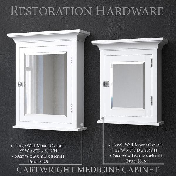 restoration cartwright medicine cabinet 3D model