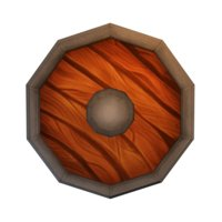 3D toon fantasy shield model