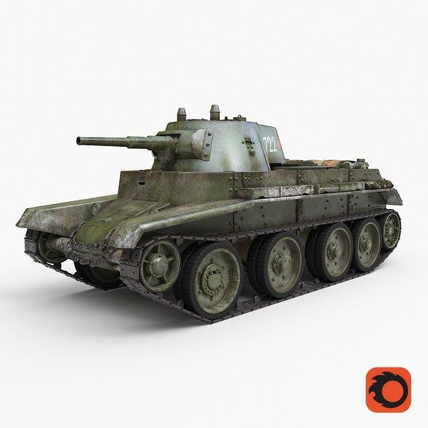 tank bt 7 soviet 3D model