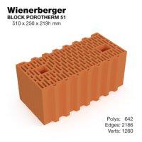 wienerberger block 3D model