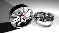 3D model generic wheel rim