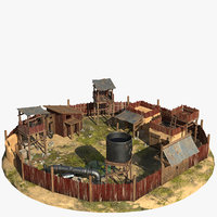 settlement cartoon 3D model