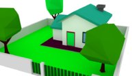 House Low Poly - Zone low Density Residential  03