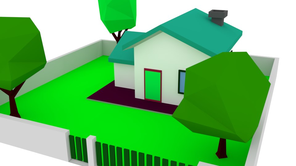 3D zone density residential house model