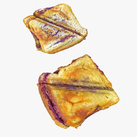 Realistic Baked Sweet Toast