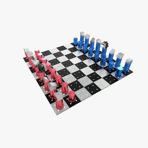 laser chess model