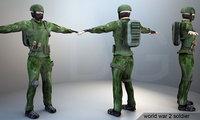 ww2 soldiers 3D model