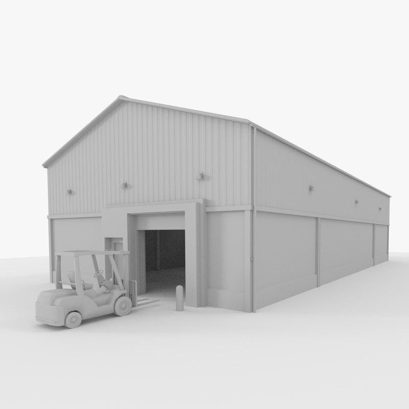 3D original forklift model
