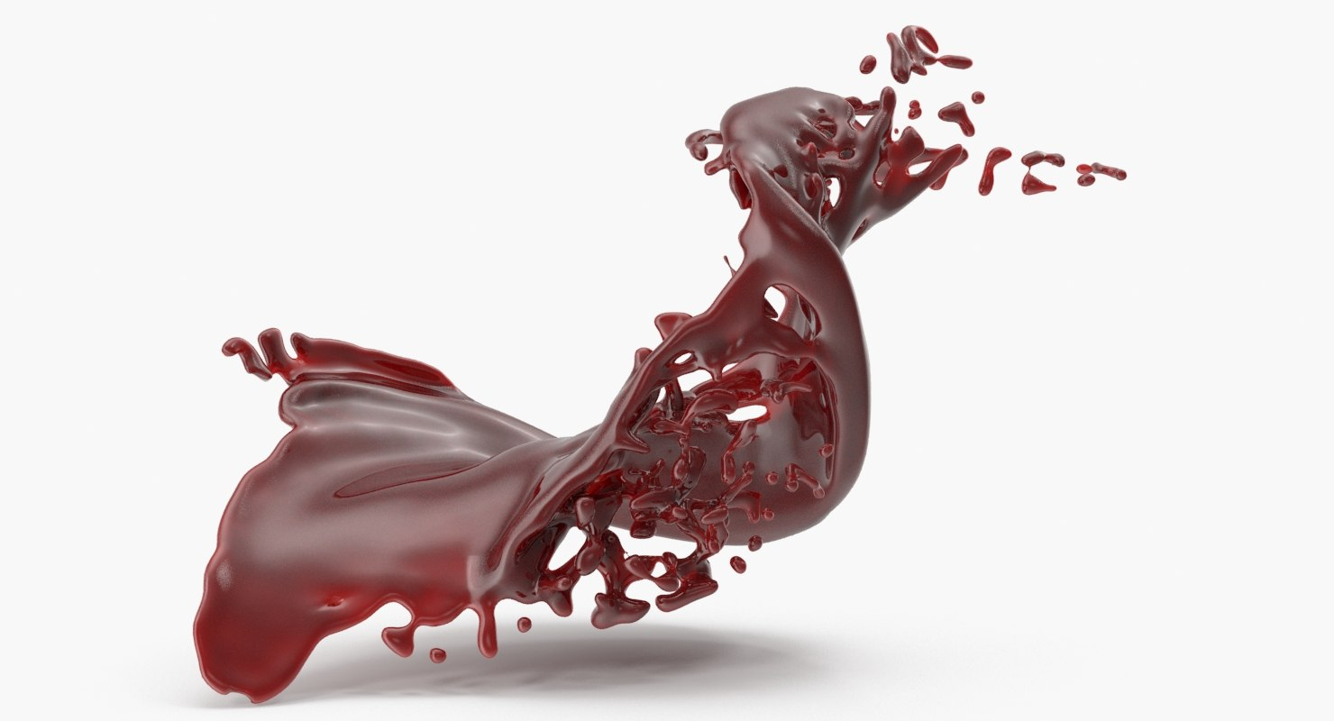 3D model realistic blood splash 3
