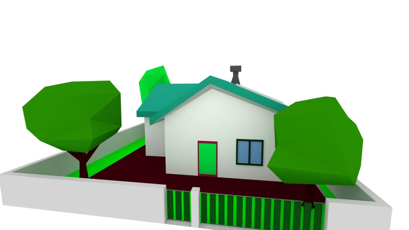 zone density residential house 3D model