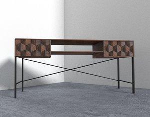 unique desk 3D model