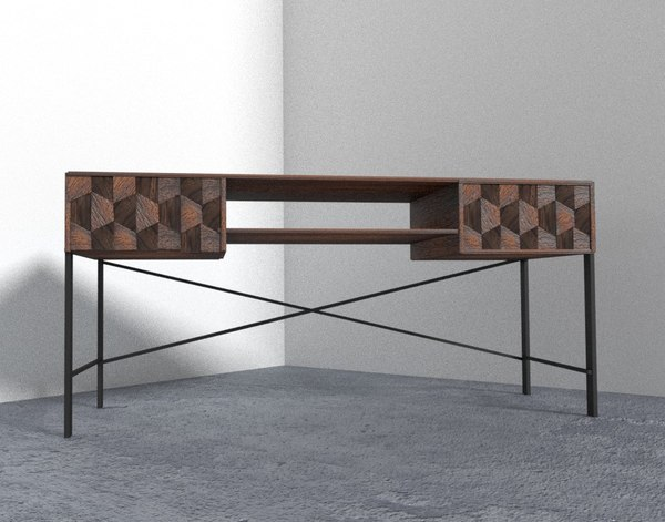 unique desk 3D model