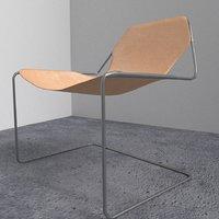 3D simple desk chair model