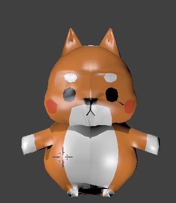 3D fox orange model