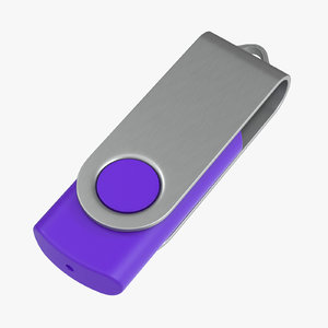 promotional usb stick mockup 3D model