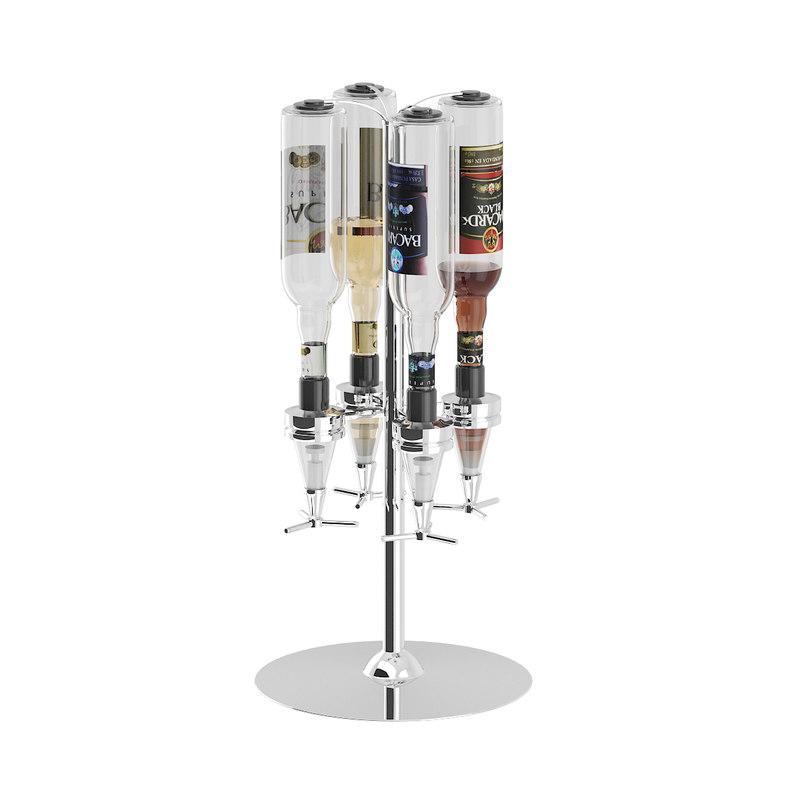 metal liquor dispenser 3D model