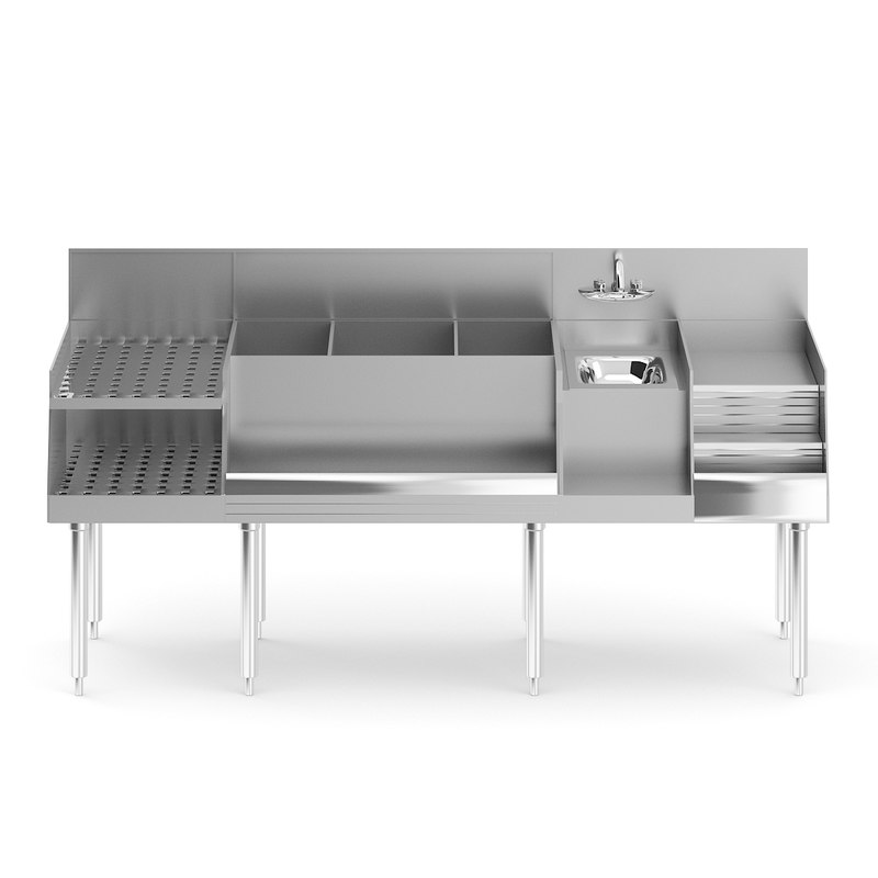 3D metal bar station