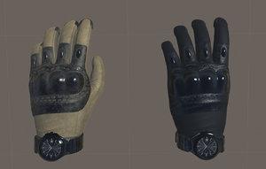 vr tactical gloves ar 3D