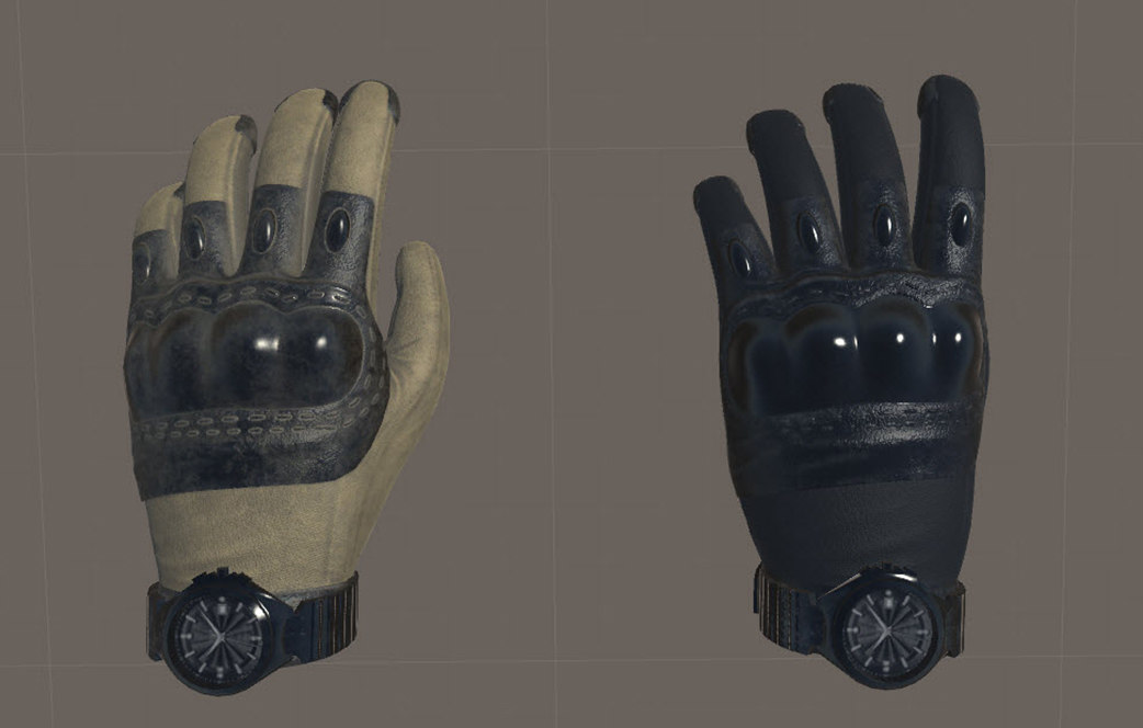 vr tactical gloves ar 3D