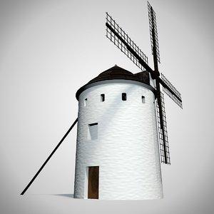 spanish windmills 3D model