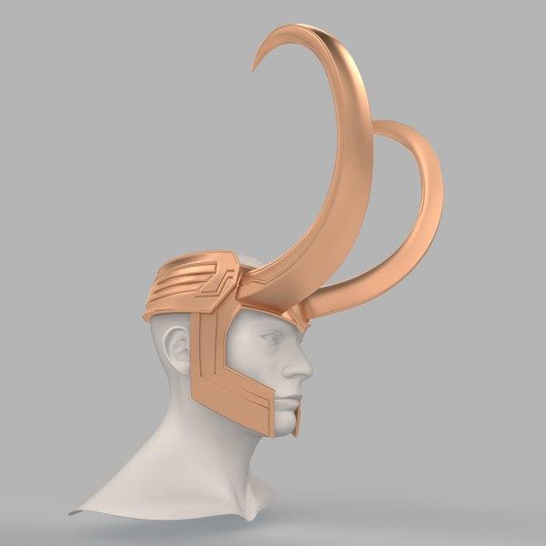 3D loki helmet thor 3