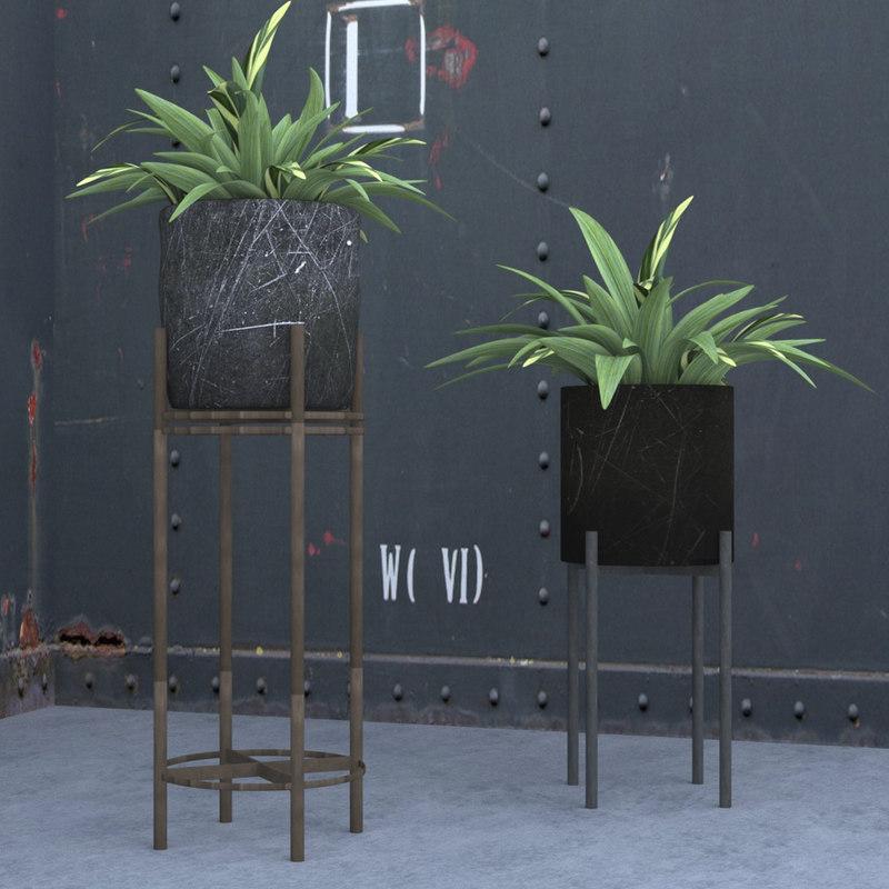 3D plant pot stand
