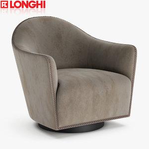 3D longhi armchair chair