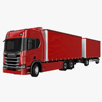 scania r500 tandem trailer model